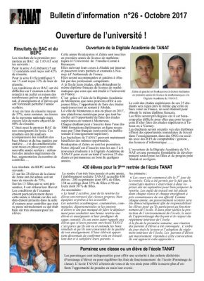 thumbnail of Bulletin n°26